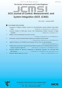 SICE Journal of Control, Measurement, and System Integration